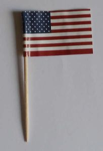 USA Country Flag Cocktail Sticks (pack of 10)